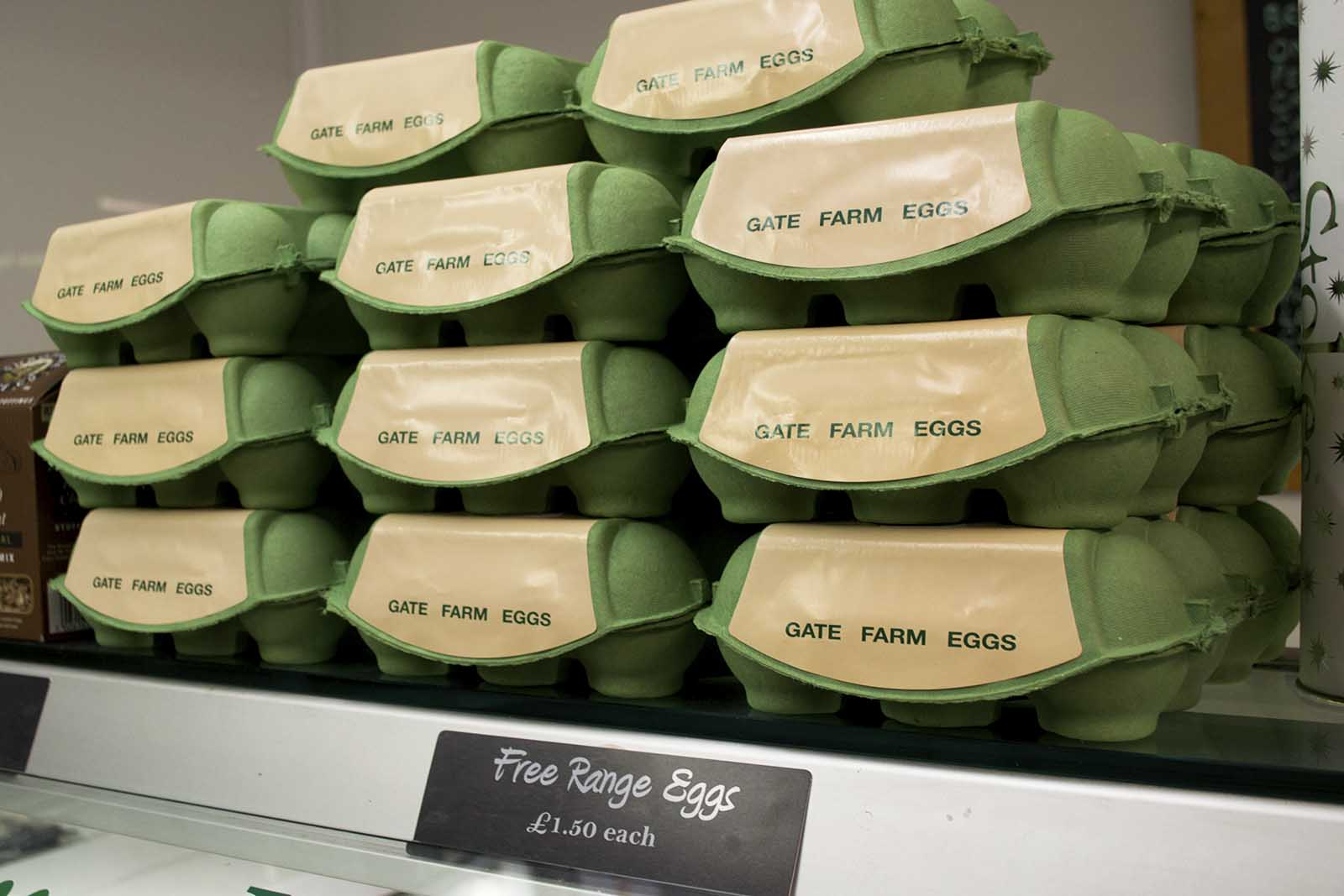 Free range eggs from Gate Farm
